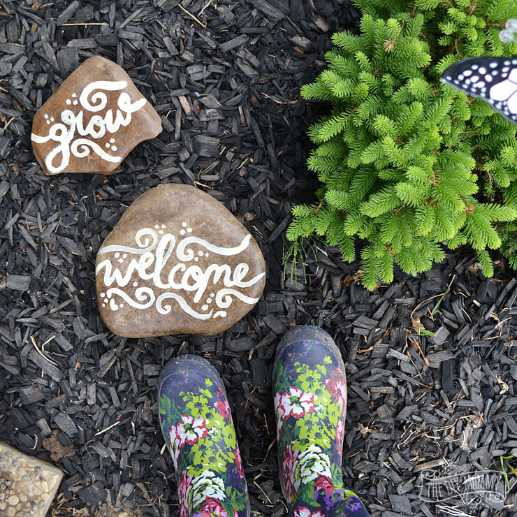 Painted Rocks With Messages For Your Garden