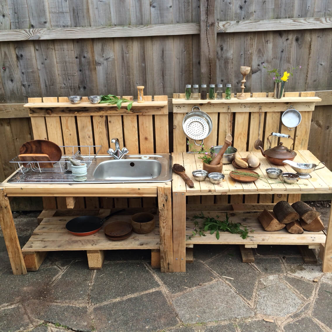27 best outdoor kitchen ideas and designs for 2018 diy wood pallet sink and prep station solutioingenieria Gallery