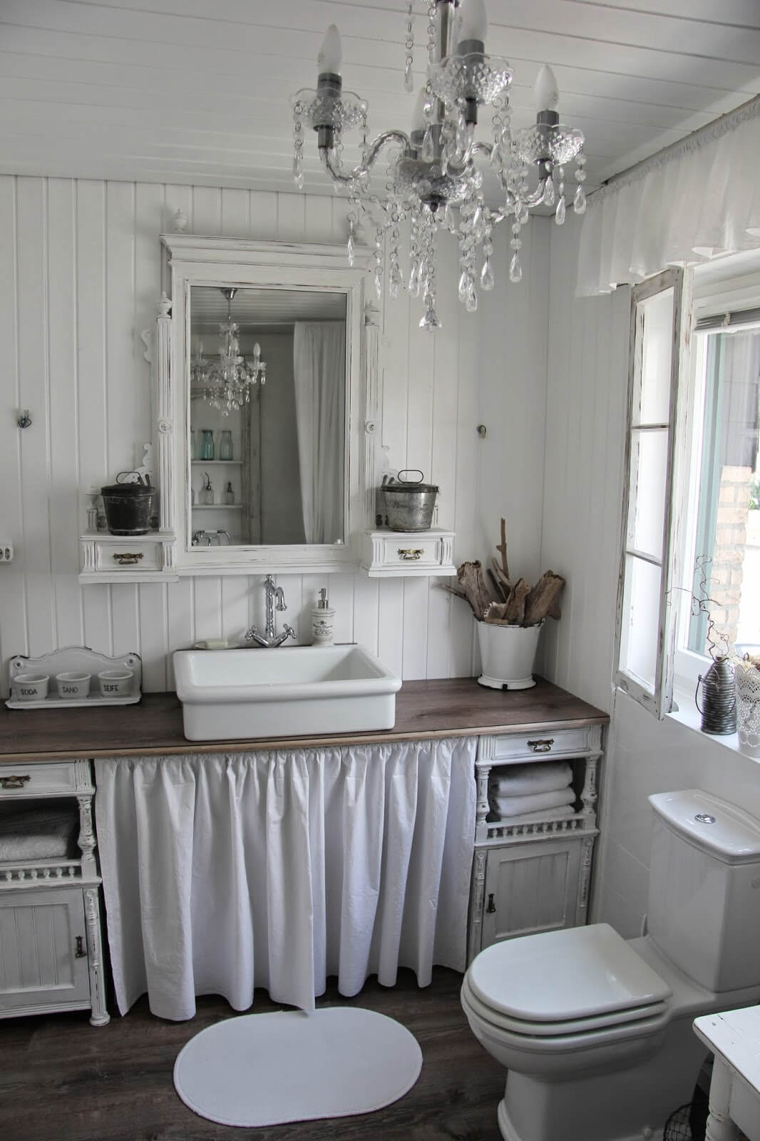 15 lovely shabby chic bathroom decor ideas style motivation for Chambre style shabby chic