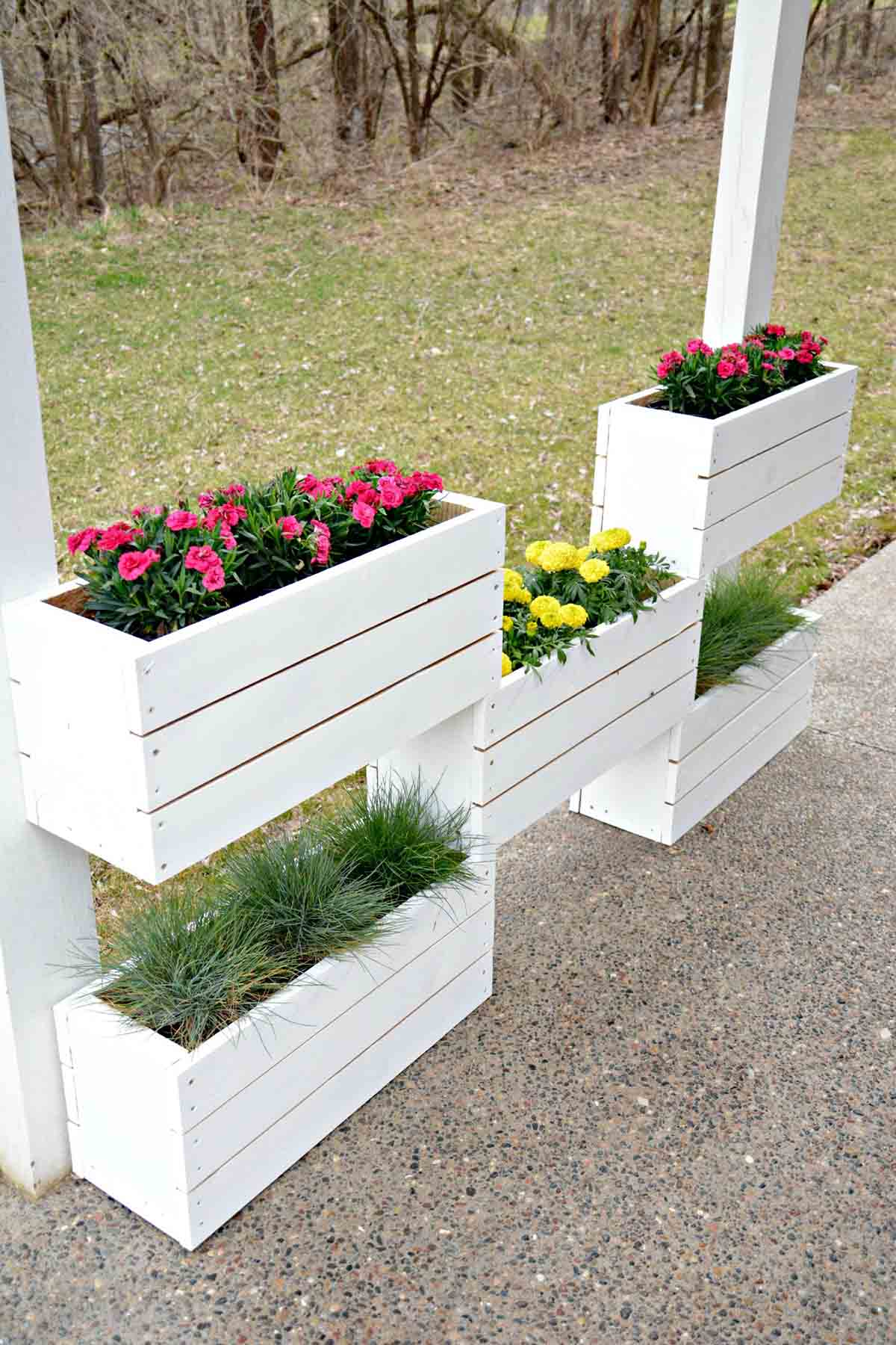 landscaping in planter smiller boxes box design