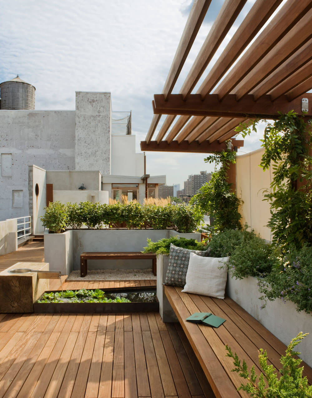 Urban Escape Rooftop Pergola