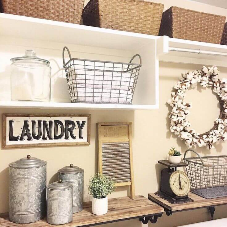 Laundry Room Decor Pictures Cool 25 Best Vintage Laundry Room Decor Ideas And Designs For 2018 Decorating Design