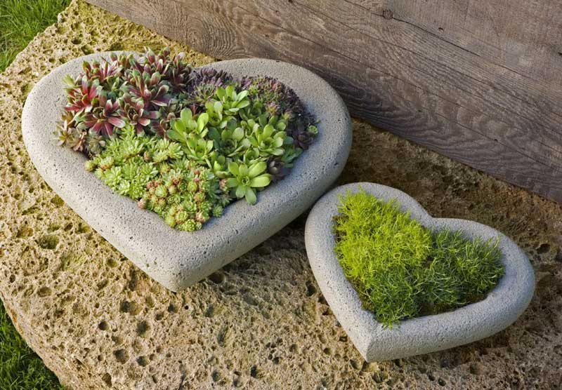 Unique Garden Ideas unique gardening ideas Stone Heart Garden Decorations