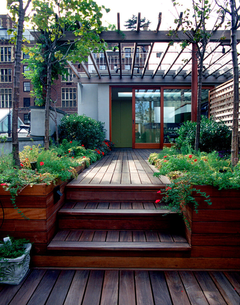 Deck With Built In Planter Bo