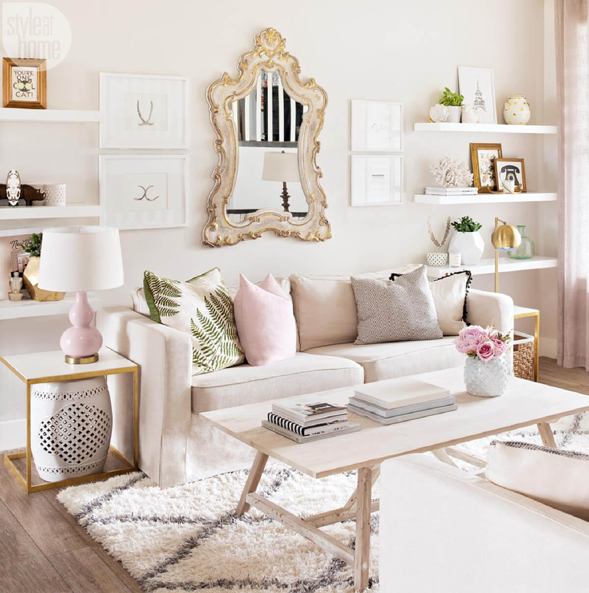 Home Office Designs Living Room Decorating Ideas: 23 Best Copper And Blush Home Decor Ideas And Designs For 2019
