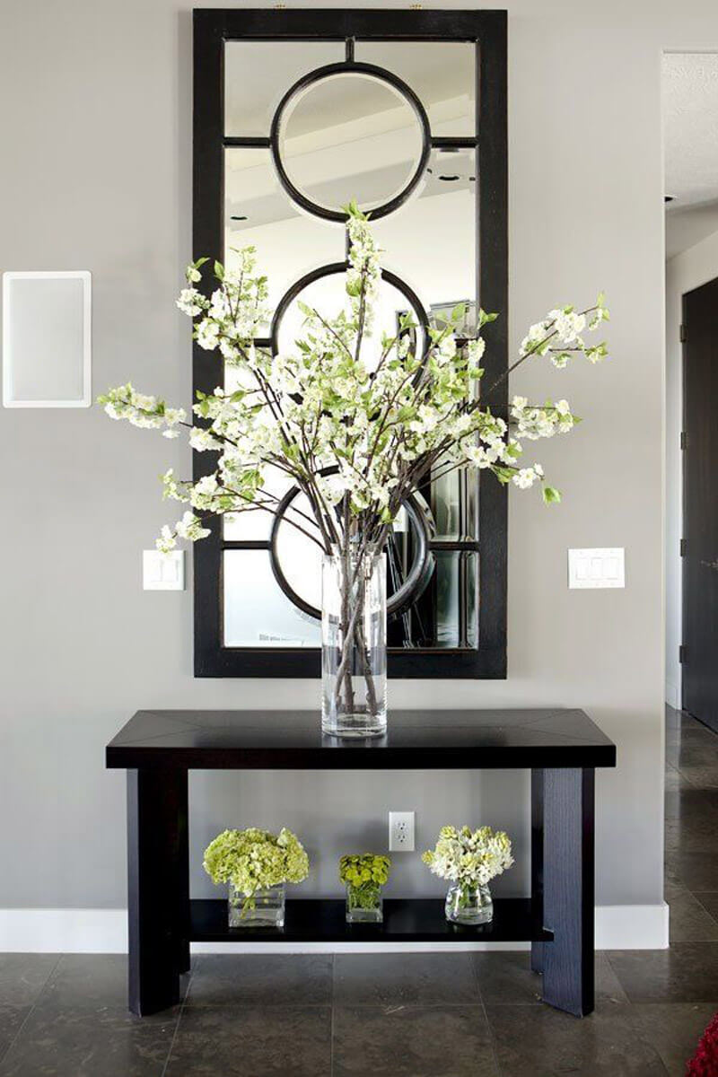Ideas To Decorate Entrance Of Home Part - 45: Cut And Beveled Entryway Mirror