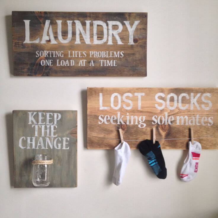 Lost Sock and Change Laundry Room Organizers