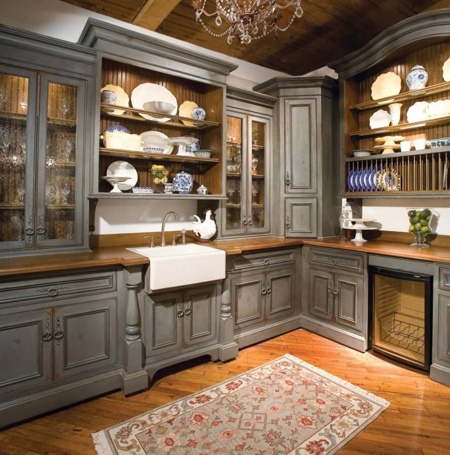 Rustic Kitchen Ideas Part - 30: Moody Blues U0026 Stormy Gray Hued Kitchen
