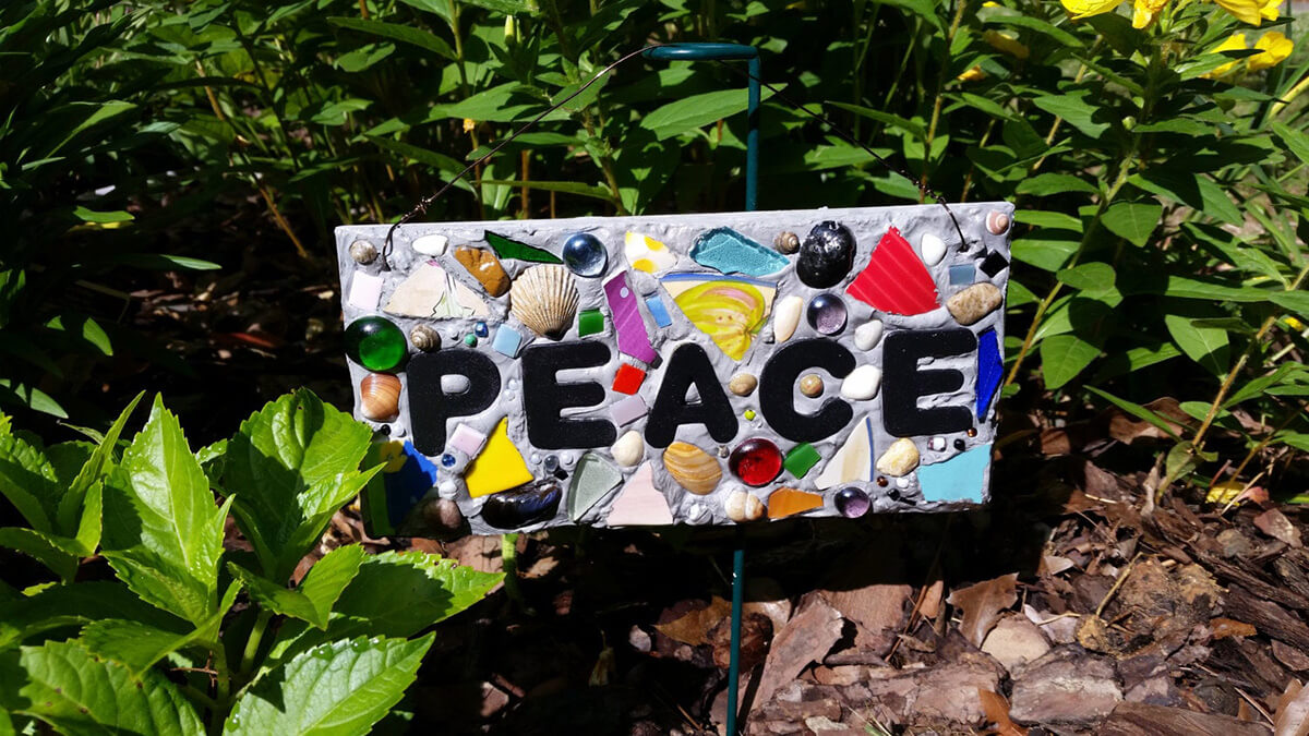 Personalized Mosaic Inspirational Garden Art