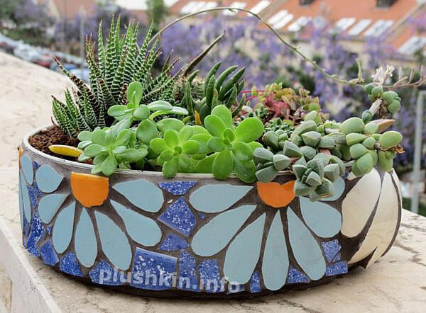 28 best diy garden mosaic ideas designs and decorations for 2018 daisy mosaic garden planter pot workwithnaturefo
