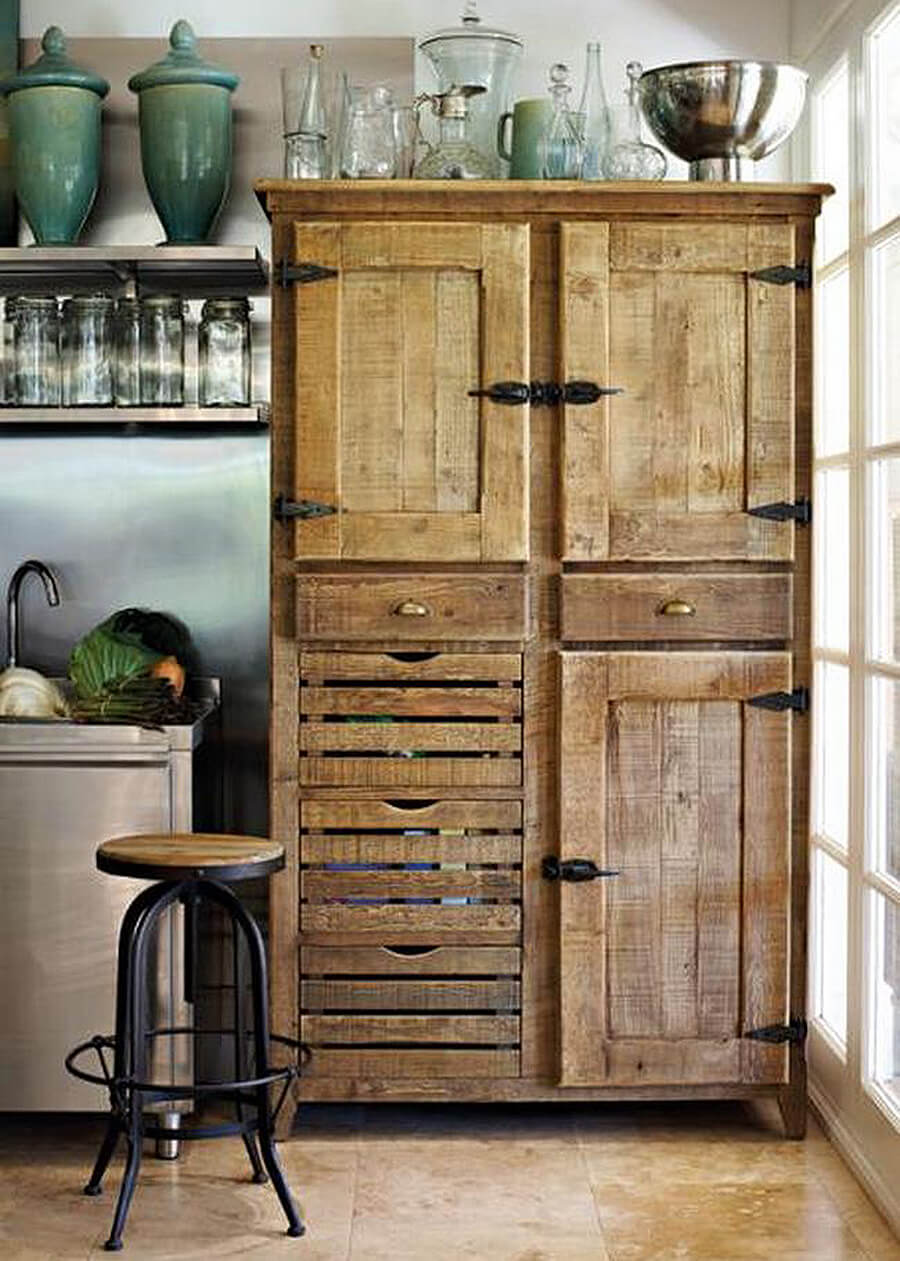 27 best rustic kitchen cabinet ideas and designs for 2017 for Cupboard cabinet designs
