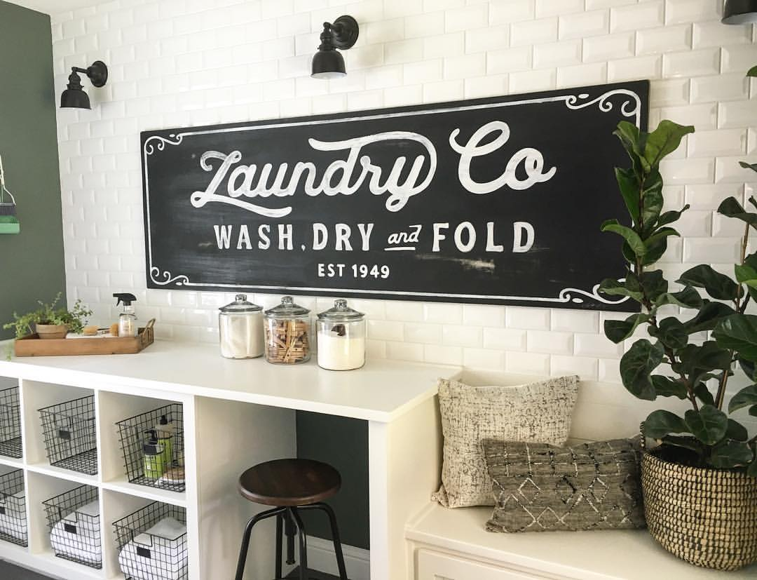 Vintage Laundry Room Signs 25 Best Vintage Laundry Room Decor Ideas And Designs For 2018