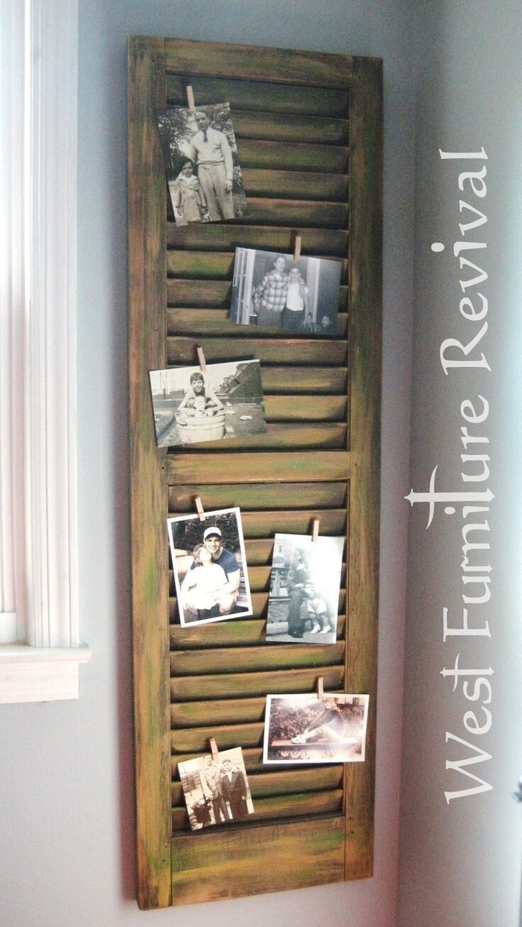 34 best old shutter decoration ideas and designs for 2017 for Decorating with old windows and shutters
