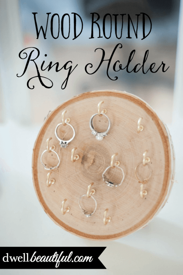 DIY Wooden Tree Ring Holder