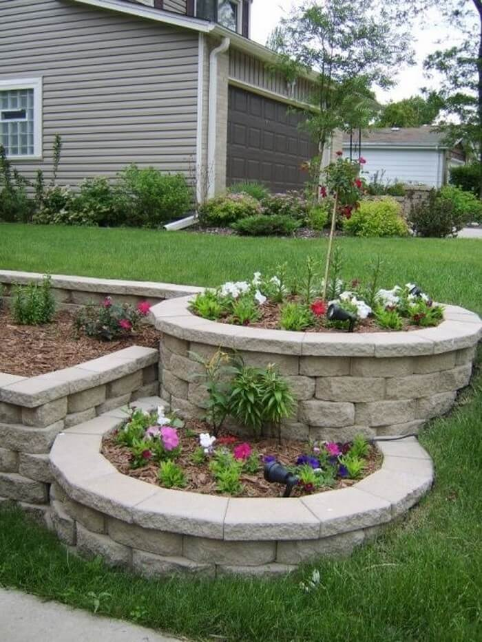 50 best front yard landscaping ideas and garden designs for Front garden bed ideas
