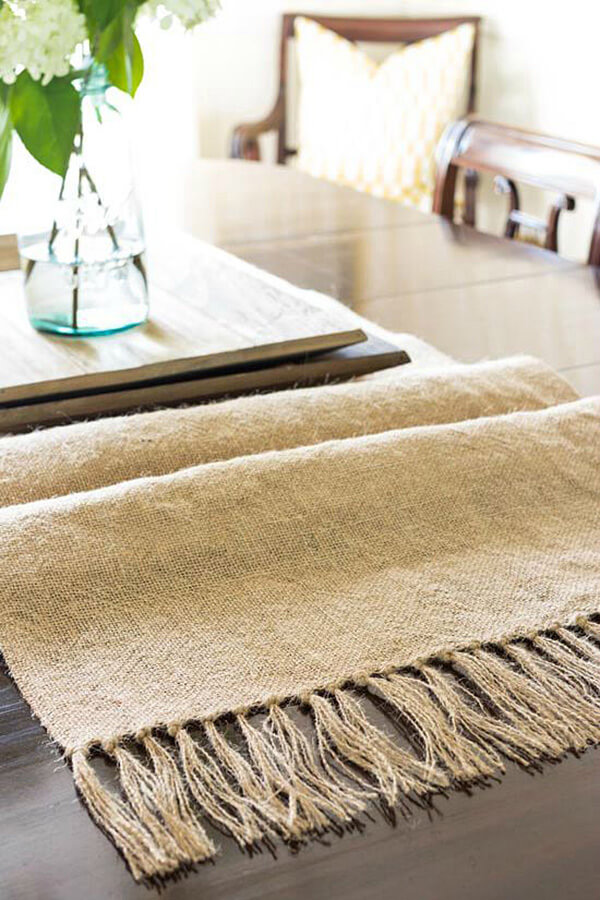 Burlap Of Luxury Repurposed Table Runner