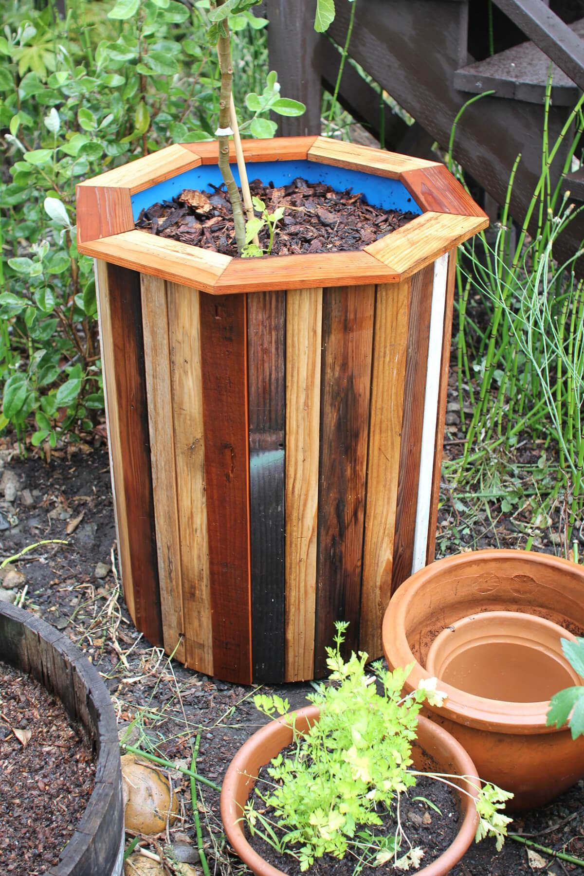 Wooden Garden Planters Ideas wooden garden planters ideas 20 diy wooden planter boxes for your yard or patio home farm Diy Octagonal Garden Planter Project