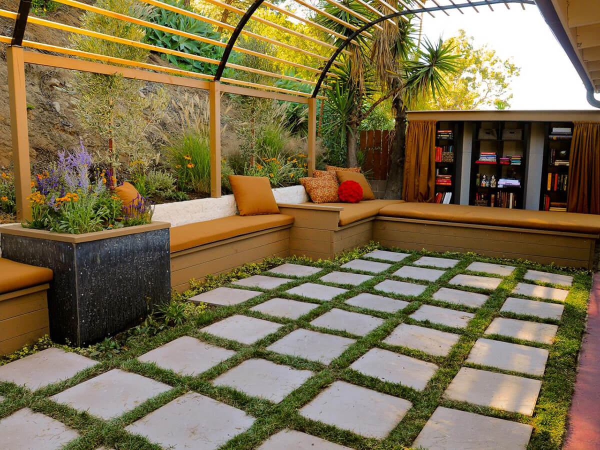 Greenhouse Design Pergola With Checkerboard Flooring