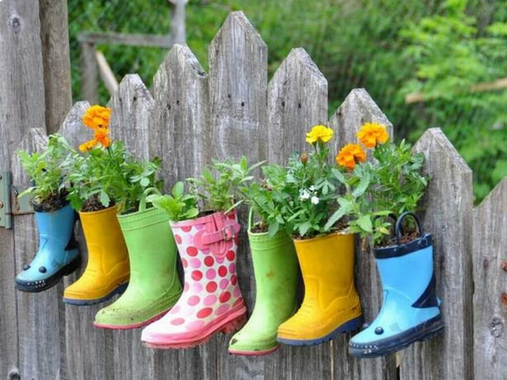 Cute Rain Boot Hanging Planters