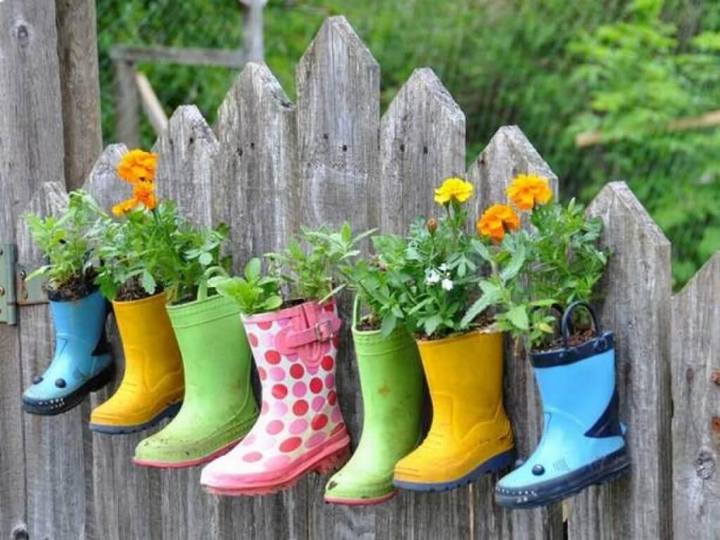 Cute Rain Boot Hanging Planters