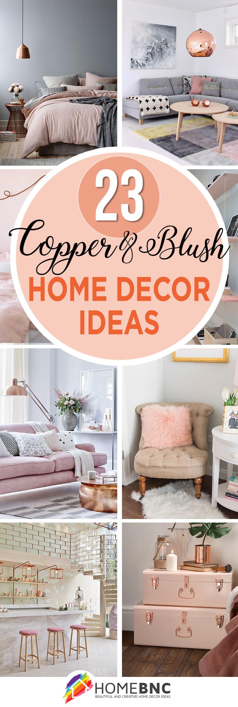 Copper and Blush Home Decor Ideas