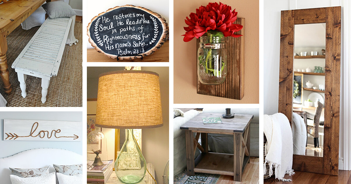 40 Rustic Home Decor Ideas You Can Build Yourself: 39 Best DIY Rustic Home Decor Ideas And Designs For 2017