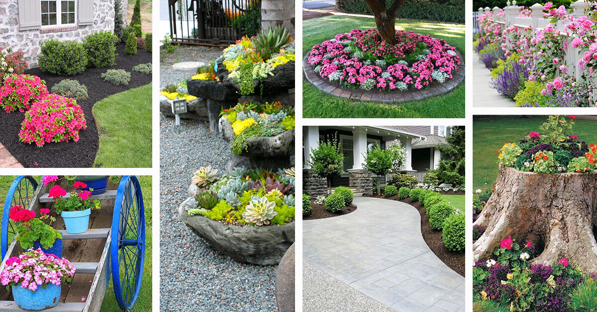 50 best front yard landscaping ideas and garden designs for Best apps for garden and landscaping designs