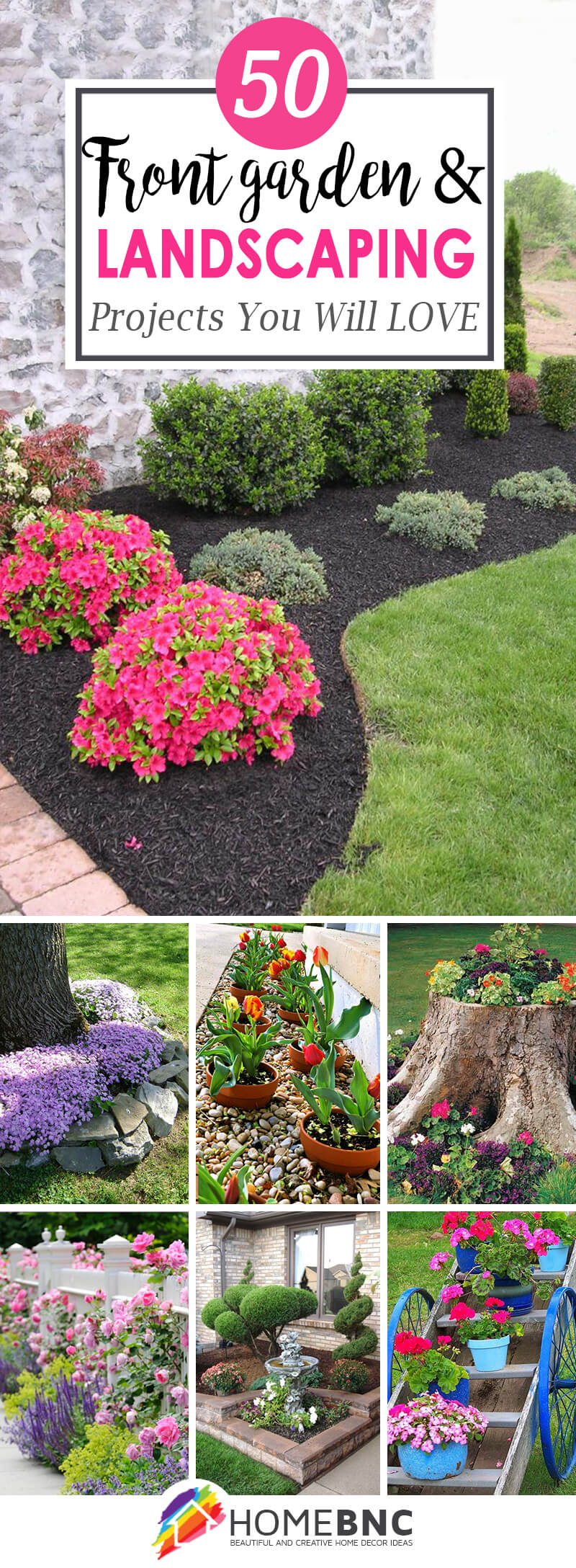 Garden Front Yard Ideas Part - 37: 50 Creative Front Yard Landscaping Ideas And Garden Designs For 2018