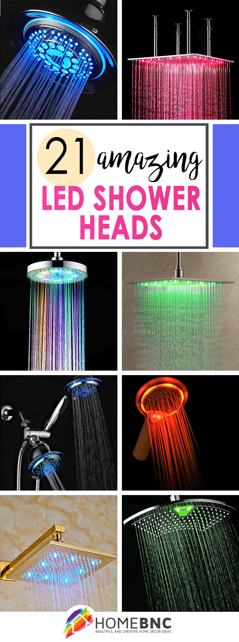 21 Stylish And Practical LED Shower Head Ideas