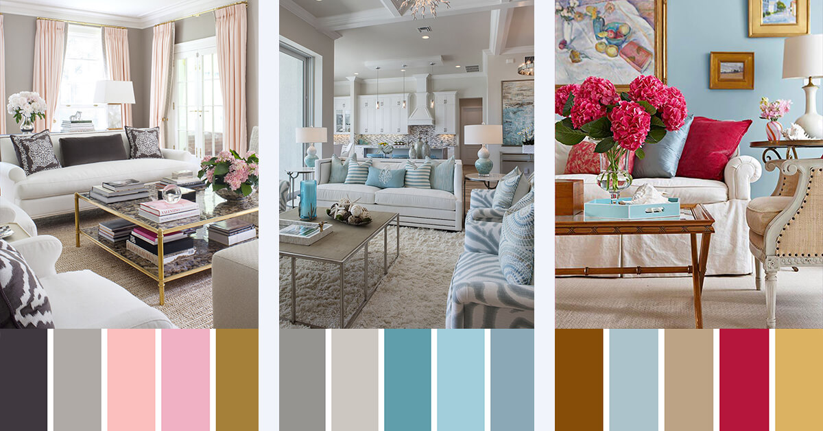 7 best living room color scheme ideas and designs for 2017 for Living room color combination ideas