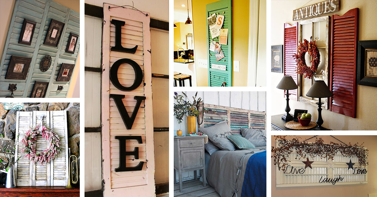 34 Best Old Shutter Decoration Ideas And Designs For 2019