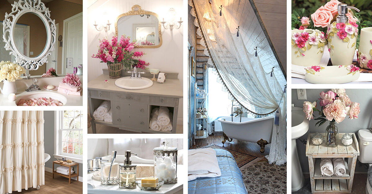 Amazing 28 Best Shabby Chic Bathroom Ideas And Designs For 2018