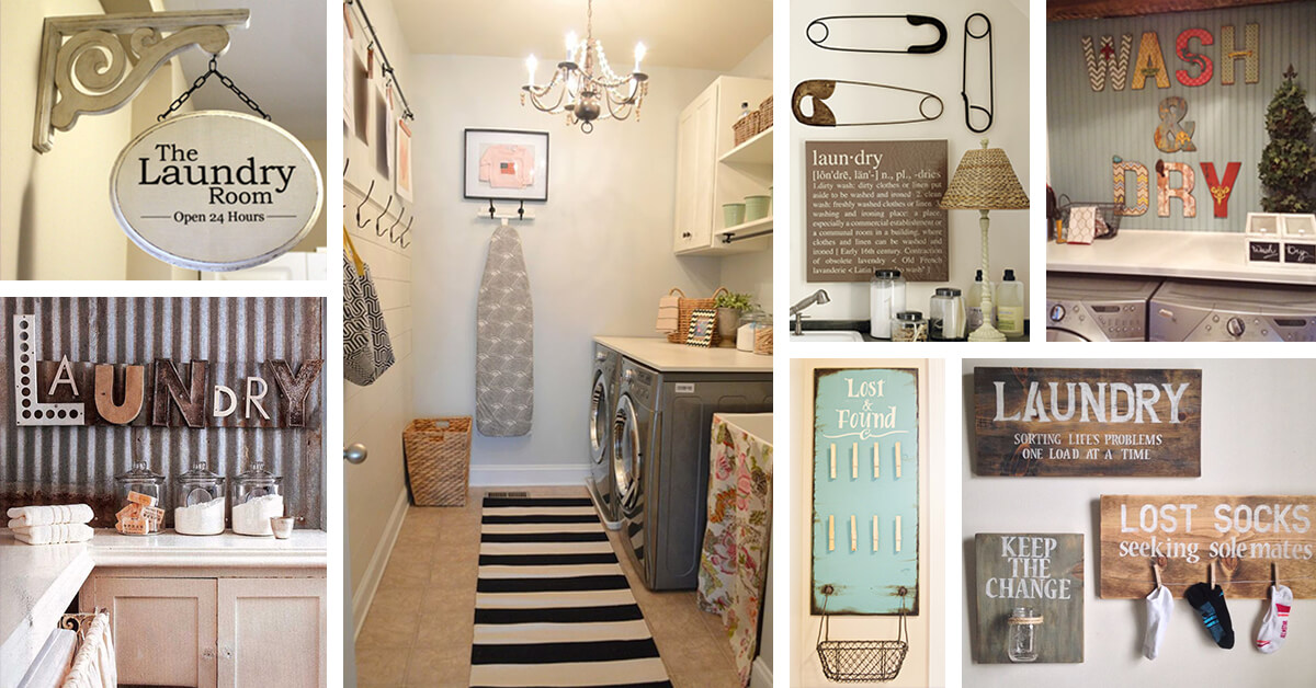 laundry room decor ideas 25 Best Vintage Laundry Room Decor Ideas and Designs for 2018 laundry room decor ideas