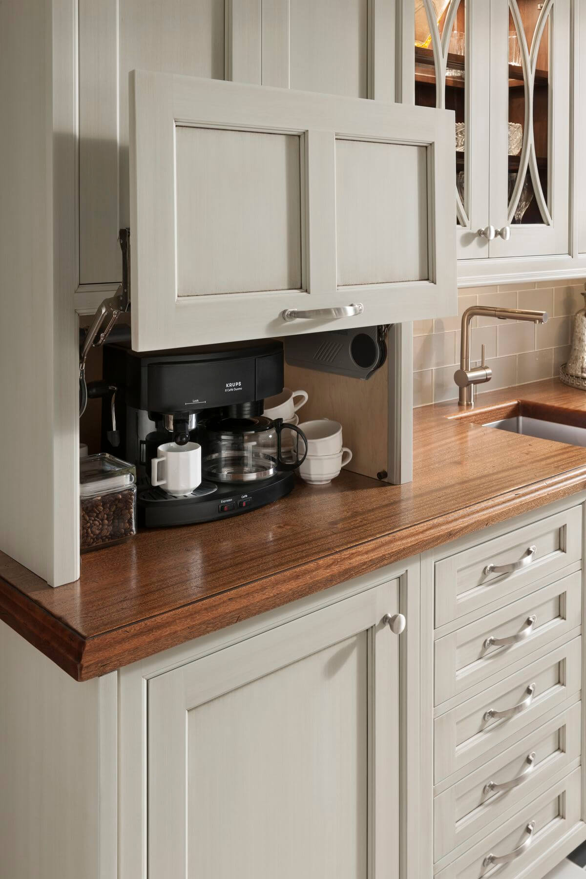 Cleverly Camouflaged Kitchen Coffee Station