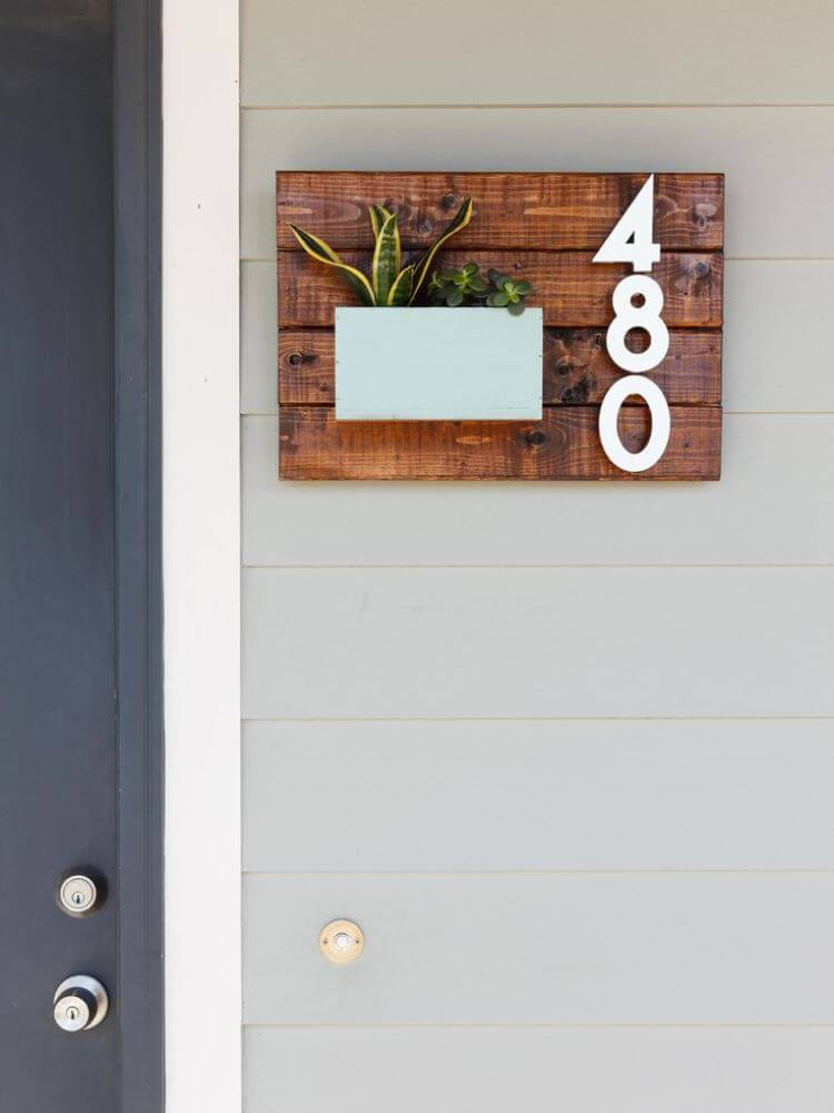 33 best creative house number ideas and designs for 2017 - Creative design ideas for the home ...