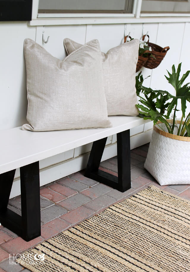 Modern and Chic Patio Bench