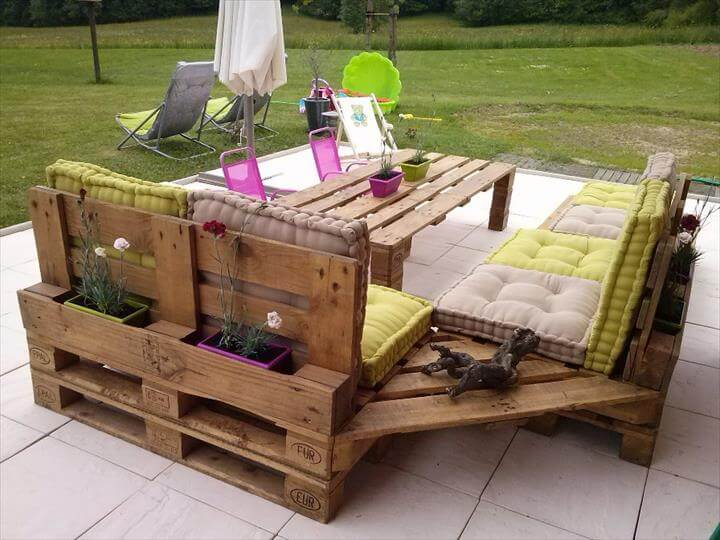 27 Best Outdoor Pallet Furniture Ideas and Designs for 2018 Pallet Garden Furniture on small pallet furniture, pallet furniture blueprints, pallet furniture diy, pallet furniture fire pit, pallet bench, pallet camping furniture, fancy pallet furniture, pallet indoor furniture, pallet furniture plans, pallet outdoor furniture, pallet furniture videos, porch swing pallet furniture, pallet furniture blog, pallet furniture lighting, headboard pallet furniture, recycled pallet furniture, pallet projects, pallet tv furniture, pallet furniture designs, pallet chairs,