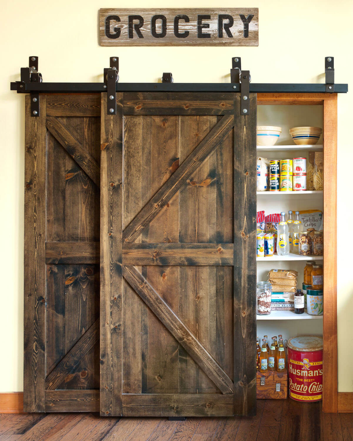 Dreamy Deadwood Style Pantry Doors