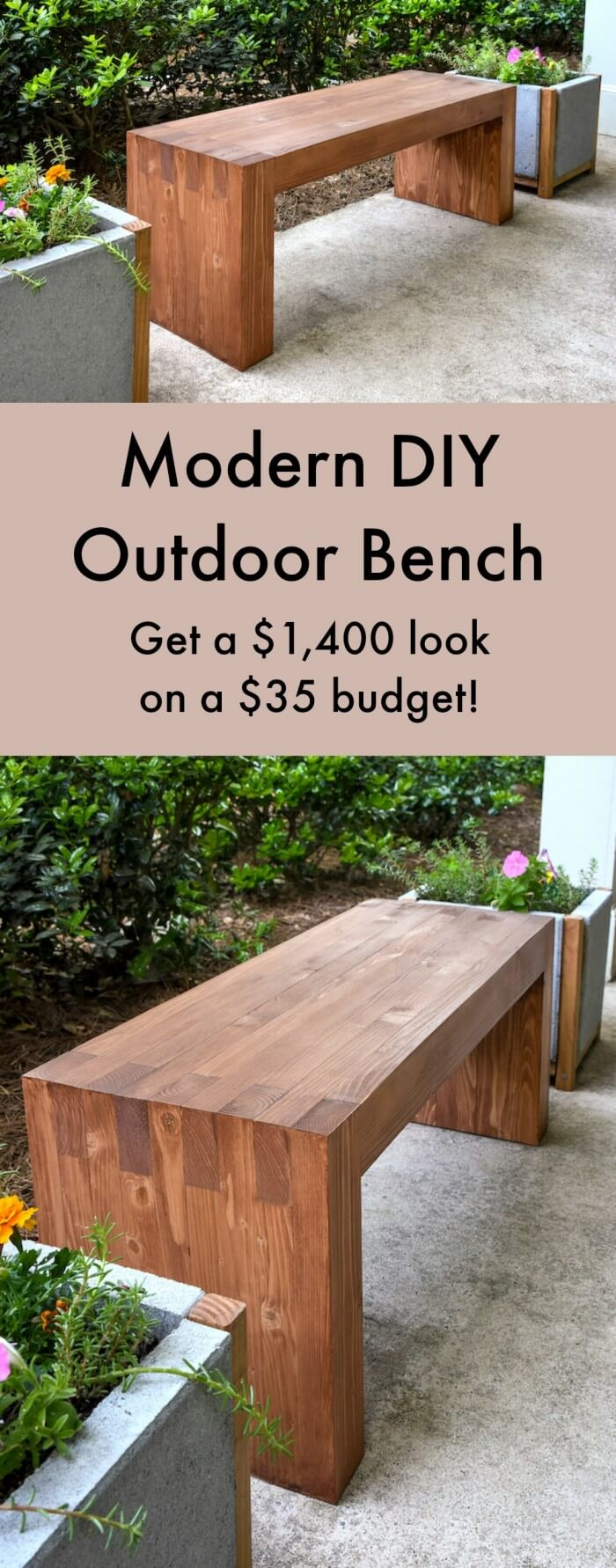 27 best diy outdoor bench ideas and designs for 2018. Black Bedroom Furniture Sets. Home Design Ideas