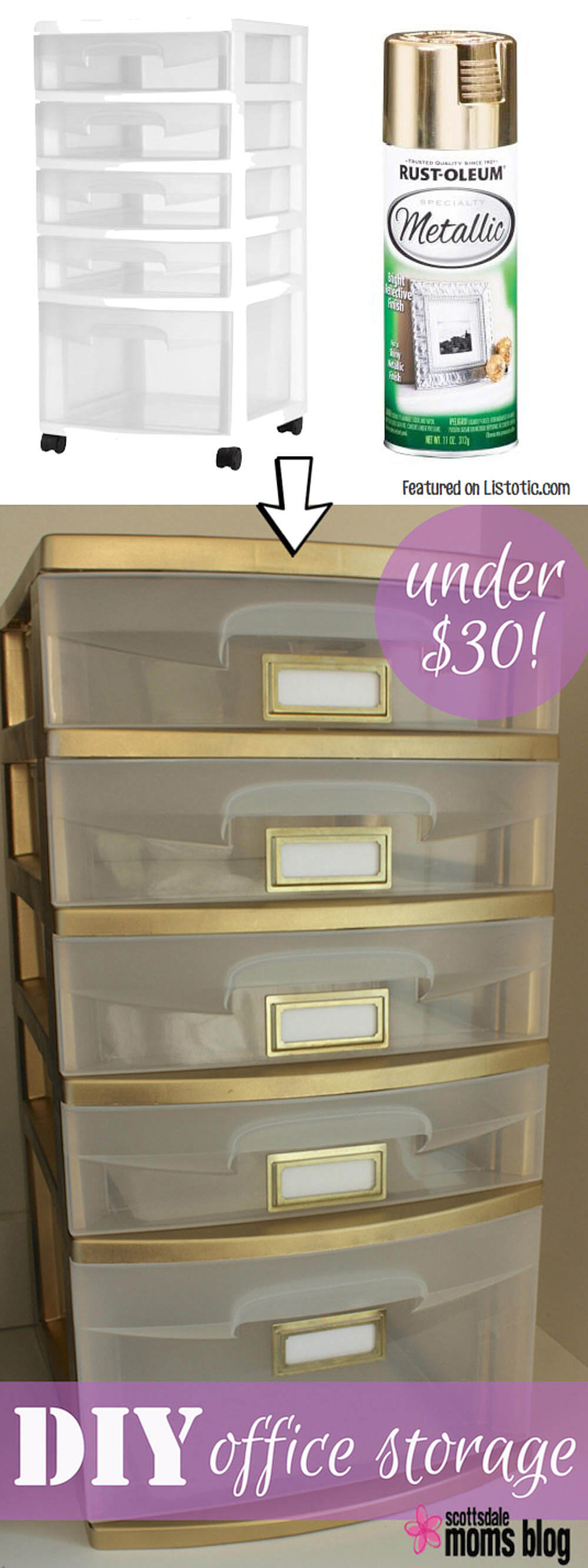 Gold Trimmed Storage Space for Your Home Office