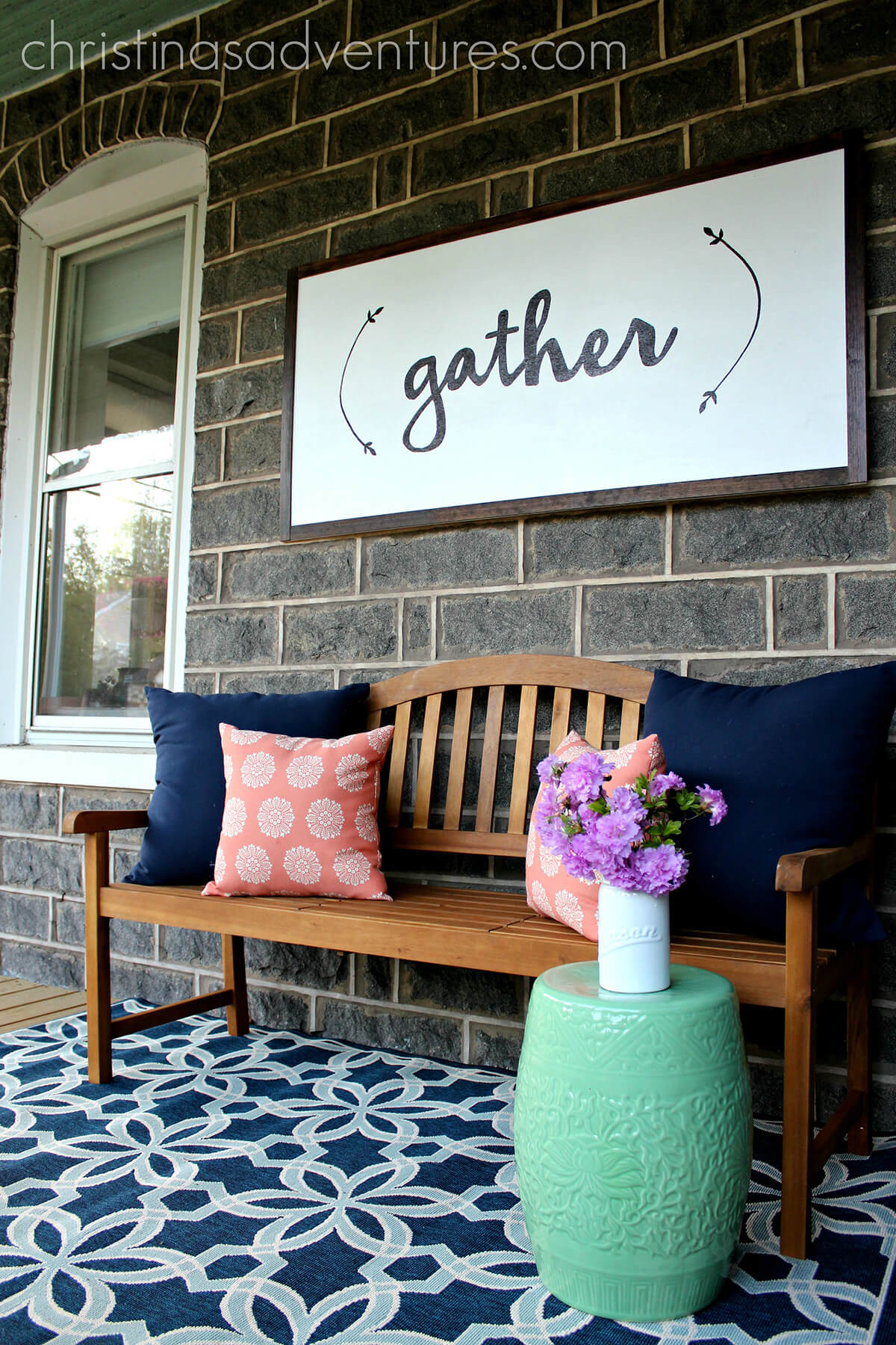 30 best front porch sign designs and diy ideas for 2018 sweet porch seating area sign diy solutioingenieria Image collections