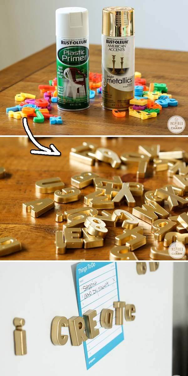 Metallic Letter Magnets: A Classier Look for Adults