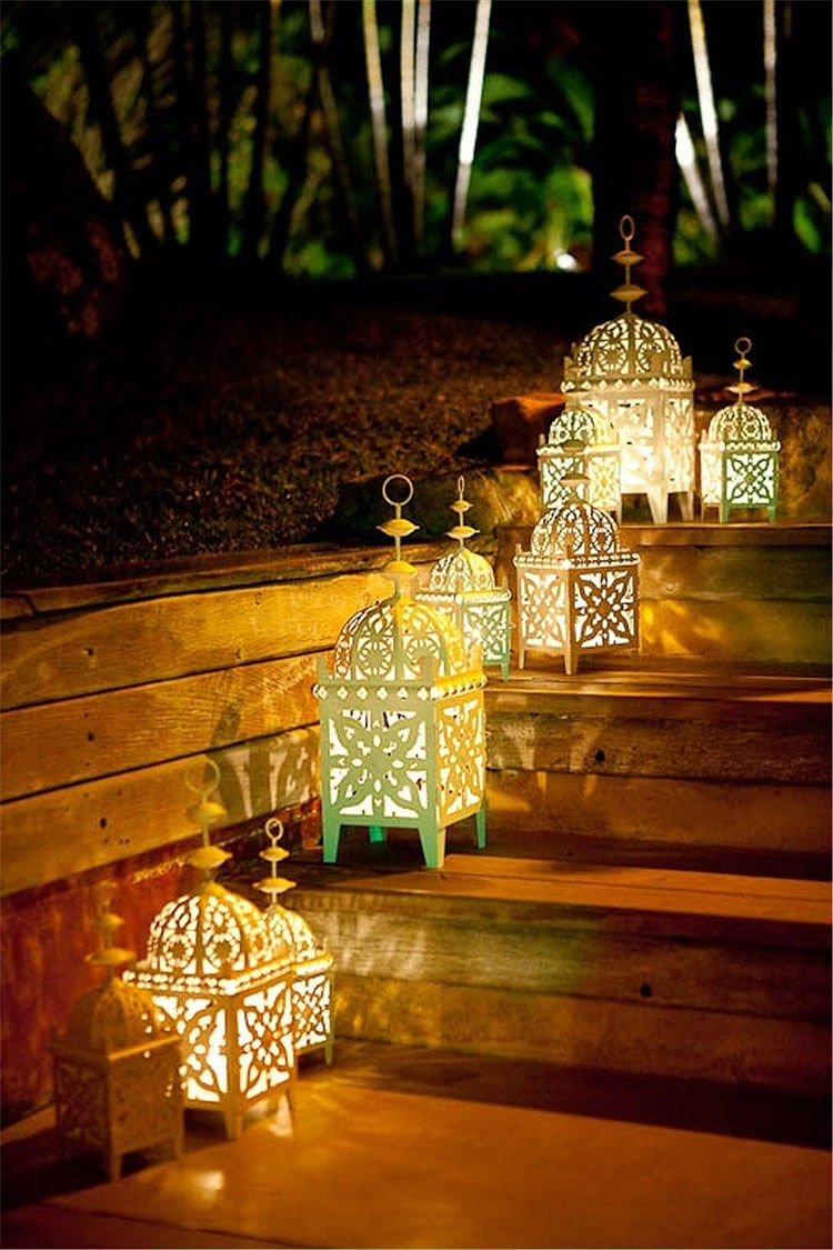 Moroccan Inspired Lantern Step Lighting