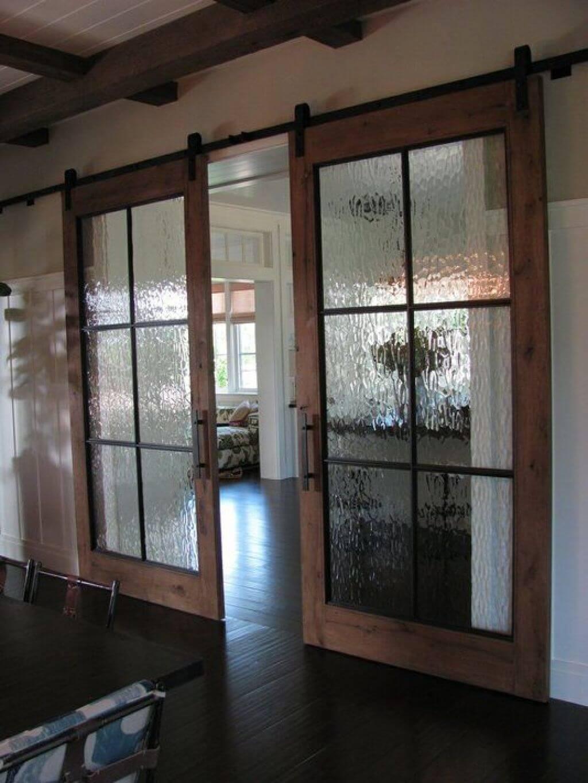 Running Water Glass Paneled Doors