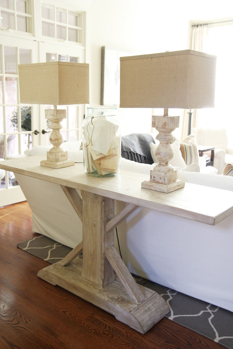 estate style pedestal sofa table - Sofa Table Decor