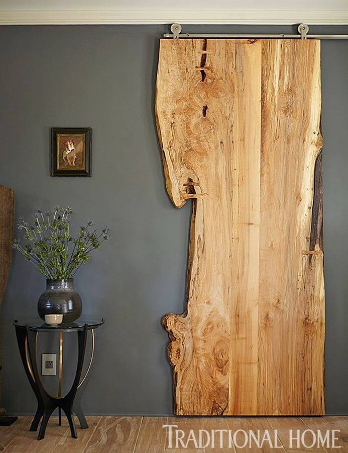 Barn Door Ideas Part - 17: Raw Cut Scrap Wood Sliding Door
