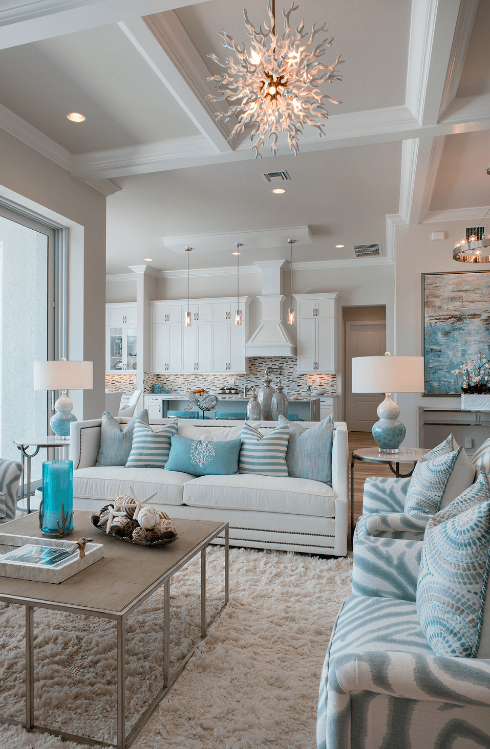 Coastal Decorating Ideas with Turquoise Accents & 34 Best Beach and Coastal Decorating Ideas and Designs for 2018