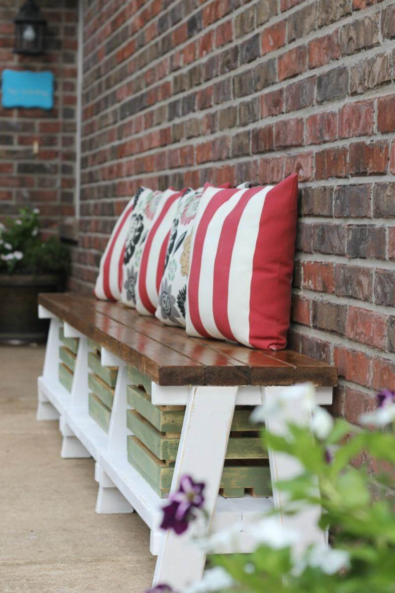 Rustic Multi-Purpose Storage Crate Bench