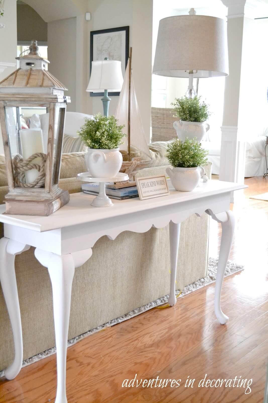 Elegant Tea Table Style Sofa Table