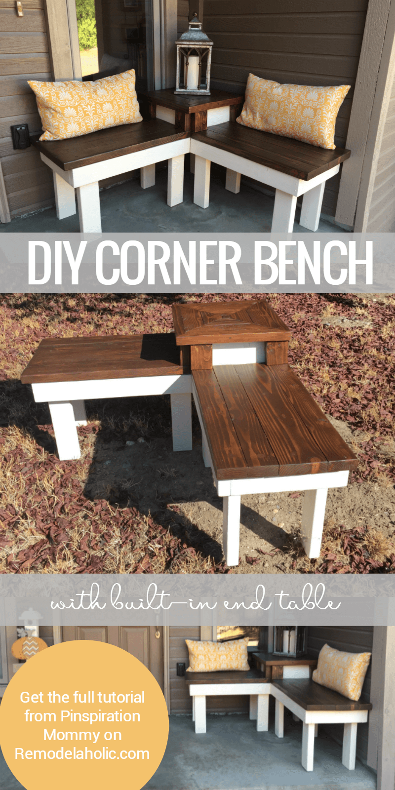 Innovative Corner Bench with Built-In Side Table